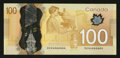 "Canadian Currency: , BC-73a $100 2011 with ""Radar"" Serial Number 4666664. ..."