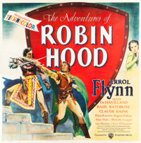 "The Adventures of Robin Hood (Warner Brothers, 1938). Six Sheet (81"" X 81"")"