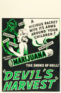 "Movie Posters:Exploitation, Devil's Harvest (Continental, 1942). One Sheet (27"" X 41"").. ..."