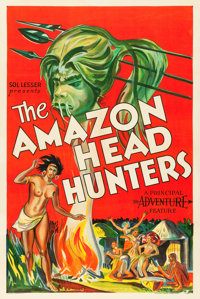 "The Amazon Head Hunters (Principal Distributing, 1932). One Sheet (27"" X 41"")"