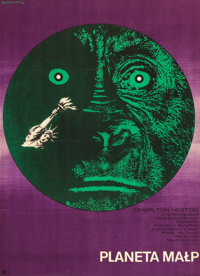 "Planet of the Apes (CWF, 1969). Polish One Sheet (22.5"" X 31.5"")"