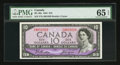 Canadian Currency: , BC-40a $10 1954. ...