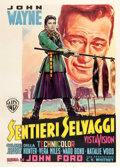"Movie Posters:Western, The Searchers (Warner Brothers, 1956). Italian 2 - Foglio (39.5"" X 55"").. ..."