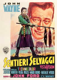 "The Searchers (Warner Brothers, 1956). Italian 2 - Foglio (39.5"" X 55"")"