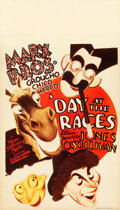 """Movie Posters:Comedy, A Day at the Races (MGM, 1937). Midget Window Card (8"""" X 14"""").. ..."""