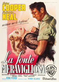 "The Fountainhead (Warner Brothers, 1949). Italian 2 - Foglio (39"" X 55"") Luigi Martinati Art"