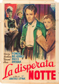 "Movie Posters:Film Noir, The Long Night (RKO, 1948). Italian 2 - Foglio (39"" X 55"") GiorgioOlivetti Art.. ..."