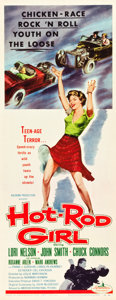 "Movie Posters:Bad Girl, Hot Rod Girl (American International, 1956). Insert (14"" X 36"").. ..."
