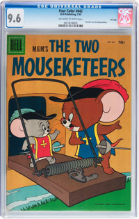 Four Color #642 M.G.M.'s The Two Mousketeers - File Copy (Dell, 1955) CGC NM+ 9.6 Off-white to white pages