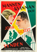"Movie Posters:Drama, Man, Woman and Sin (MGM, 1927). Swedish One Sheet (27.5"" X 39.5"")....."