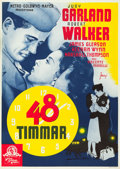 "Movie Posters:Romance, The Clock (MGM, 1945). Swedish One Sheet (27.5"" X 39.5"").. ..."