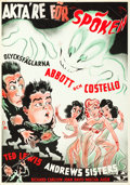 """Movie Posters:Comedy, Hold That Ghost (Universal, 1942). Swedish One Sheet (27.5"""" X39.5"""") Gosta Aberg Art.. ..."""