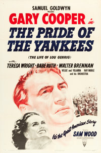 "The Pride of the Yankees (RKO, 1942). One Sheet (27"" X 41""). ... (Total: 2 Items)"