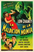 "Movie Posters:Horror, The Mummy's Curse (Universal, 1944). Spanish Language One Sheet(27"" X 41"").. ..."