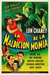 "The Mummy's Curse (Universal, 1944). Spanish Language One Sheet (27"" X 41"")"