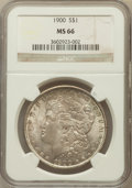 Morgan Dollars: , 1900 $1 MS66 NGC. NGC Census: (558/43). PCGS Population (572/25).Mintage: 8,830,912. Numismedia Wsl. Price for problem fre...