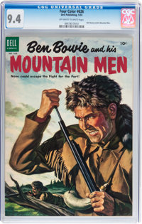 Four Color #626 Ben Bowie and his Mountain Men (Dell, 1955) CGC NM 9.4 Off-white to white pages