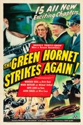 "Movie Posters:Serial, The Green Hornet Strikes Again (Universal, 1941). Stock One Sheet(27"" X 41"").. ..."