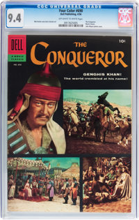 Four Color #690 The Conqueror (Dell, 1956) CGC NM 9.4 Off-white to white pages