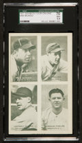 Baseball Cards:Singles (1930-1939), 1937 Exhibits 4 On 1 Mungo, English Plus Others SGC 70 EX+ 5.5 -Pop One, Highest SGC Known! ...