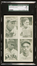 Baseball Cards:Singles (1930-1939), 1937 Exhibits 4 On 1 Lopez, Urbanski Plus Others SGC 50 VG/EX 4....