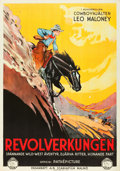 """Movie Posters:Western, The Long Loop on the Pecos (Scania Film, 1927). Swedish One Sheet (27.5"""" X 39.5"""").. ..."""