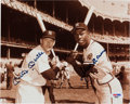 Autographs:Photos, Mickey Mantle & Hank Aaron Signed Photograph....