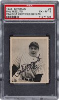 Autographs:Sports Cards, 1948 Bowman Phil Rizzuto #8 Baseball Card, Signed. ...