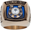 Football Collectibles:Others, 1970 Baltimore Colts Super Bowl V Salesman's Sample Ring. ...