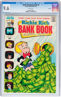 Richie Rich Bank Book #6 File Copy (Harvey, 1973) CGC NM+ 9.6 White pages