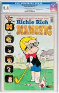 Bronze Age (1970-1979):Humor, Richie Rich Diamonds #4 File Copy (Harvey, 1973) CGC NM 9.4Off-white to white pages....