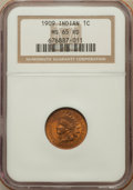 Indian Cents: , 1909 1C MS65 Red NGC. NGC Census: (253/33). PCGS Population(617/159). Mintage: 14,370,645. Numismedia Wsl. Price for probl...