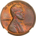 Lincoln Cents, 1955 1C Doubled Die Obverse MS64 Brown NGC. FS-101....