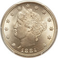 Liberty Nickels, 1884 5C MS66 PCGS. CAC....