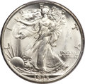 Walking Liberty Half Dollars, 1935 50C MS67 PCGS. CAC....
