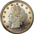 Proof Liberty Nickels, 1897 5C PR67 Cameo PCGS. CAC....