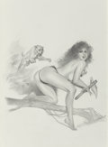Pin-up and Glamour Art, LUIS ROCA (American, 20th/21st Century). Jungle Tails, VolumeTwo (A Gallery Girls Book), original illustration, 1998. P...