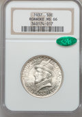 Commemorative Silver, 1937 50C Roanoke MS66 NGC. CAC. NGC Census: (958/245). PCGSPopulation (1169/303). Mintage: 29,030. Numismedia Wsl. Price f...