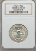 Commemorative Silver: , 1936-S 50C Columbia MS65 NGC. NGC Census: (531/734). PCGSPopulation (702/579). Mintage: 8,007. Numismedia Wsl. Price forp...