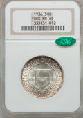 Commemorative Silver: , 1936 50C York MS65 NGC. CAC. NGC Census: (1064/1646). PCGSPopulation (1921/2044). Mintage: 25,015. Numismedia Wsl. Price f...