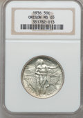 Commemorative Silver: , 1936 50C Oregon MS65 NGC. NGC Census: (549/661). PCGS Population(870/722). Mintage: 10,006. Numismedia Wsl. Price for prob...