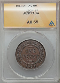 Australia: George V Minors Pair 1912-24,... (Total: 2 coins)