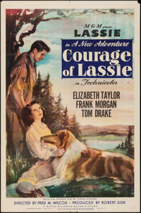 "Courage of Lassie (MGM, 1946). One Sheet (27"" X 41""). Drama"