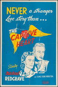 "Movie Posters:War, The Captive Heart (Eagle Lion, 1946). Silk Screen British One Sheet(28"" X 42""). War.. ..."