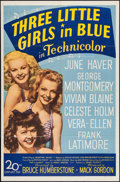 "Movie Posters:Musical, Three Little Girls in Blue (20th Century Fox, 1946). One Sheet (27"" X 41""). Musical.. ..."