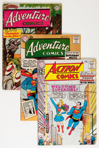 Action Comics/Adventure Comics Group (DC, 1954-76) Condition: Average GD except as noted.... (Total: 54 Comic Books)
