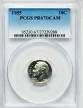 Proof Roosevelt Dimes: , 1955 10C PR67 Deep Cameo PCGS. PCGS Population (27/13). NGC Census:(22/24). ...