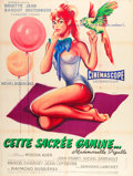 "Movie Posters:Sexploitation, That Naughty Girl (Sofradis, 1956). French Grande (47"" X 63"").. ..."