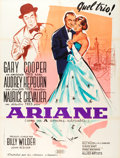 """Movie Posters:Romance, Love in the Afternoon (United Artists, 1957). French Grande (46.5"""" X 62.5"""").. ..."""