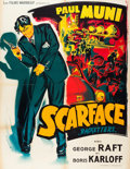 "Movie Posters:Crime, Scarface (Les Films Marbeuf, R-1950s). French Grande (47"" X 63"")....."